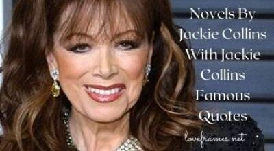 50 Novels By Jackie Collins With Jackie Collins Famous Quotes